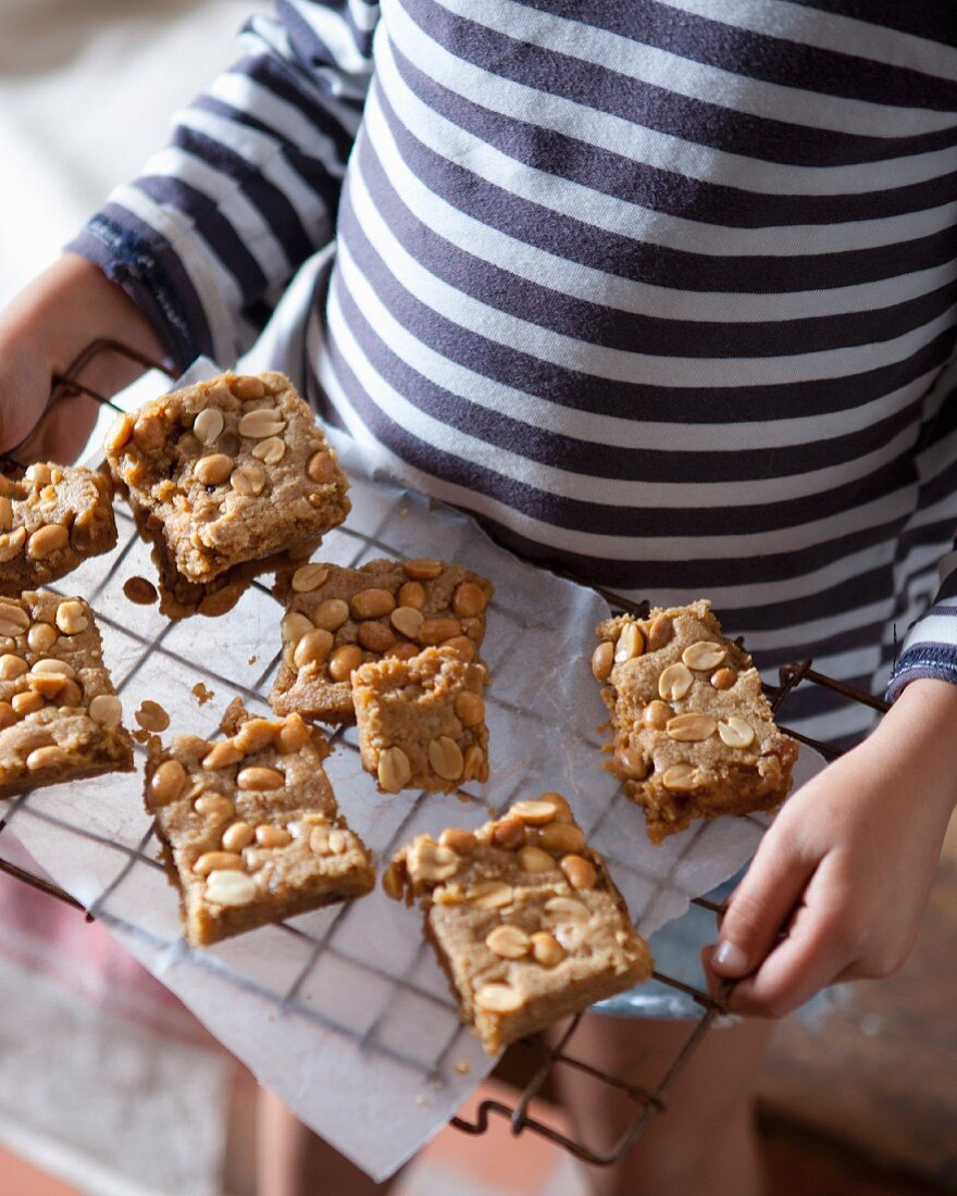 Peanut and lemongrass biscuits