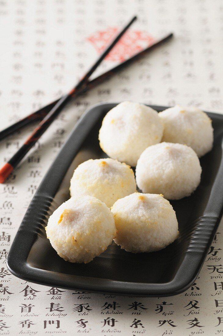 Stuffed coconut balls