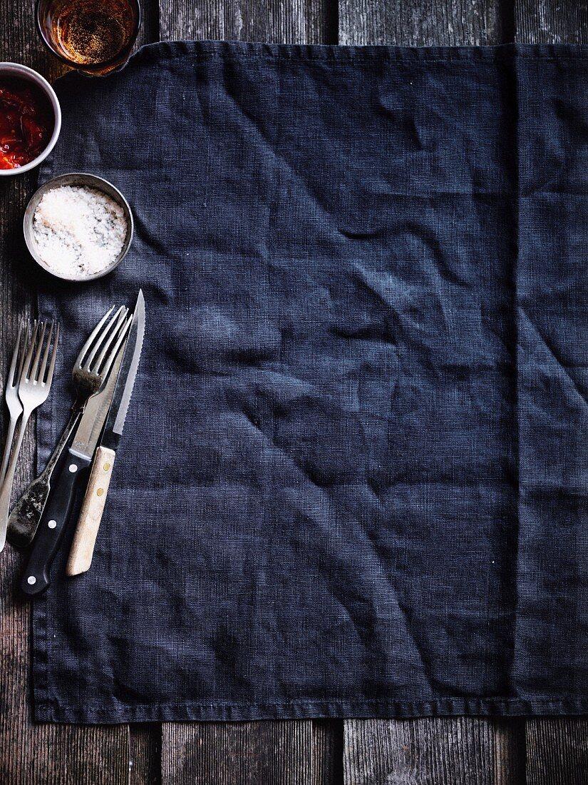 Salt, Cutlery and Steak knife