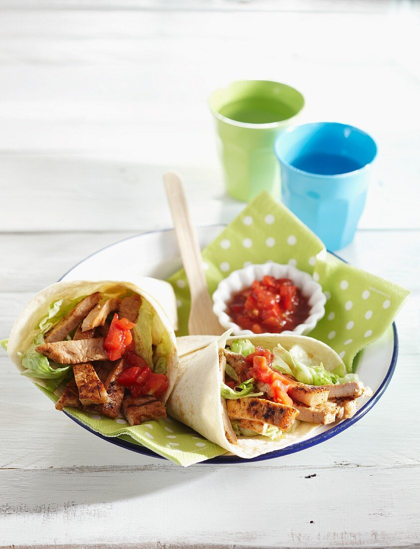 Mexican pork wraps