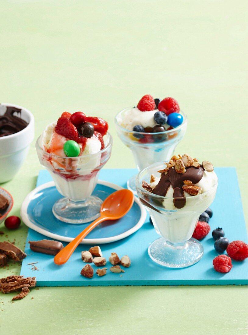 Frozen yoghurt dessert bar