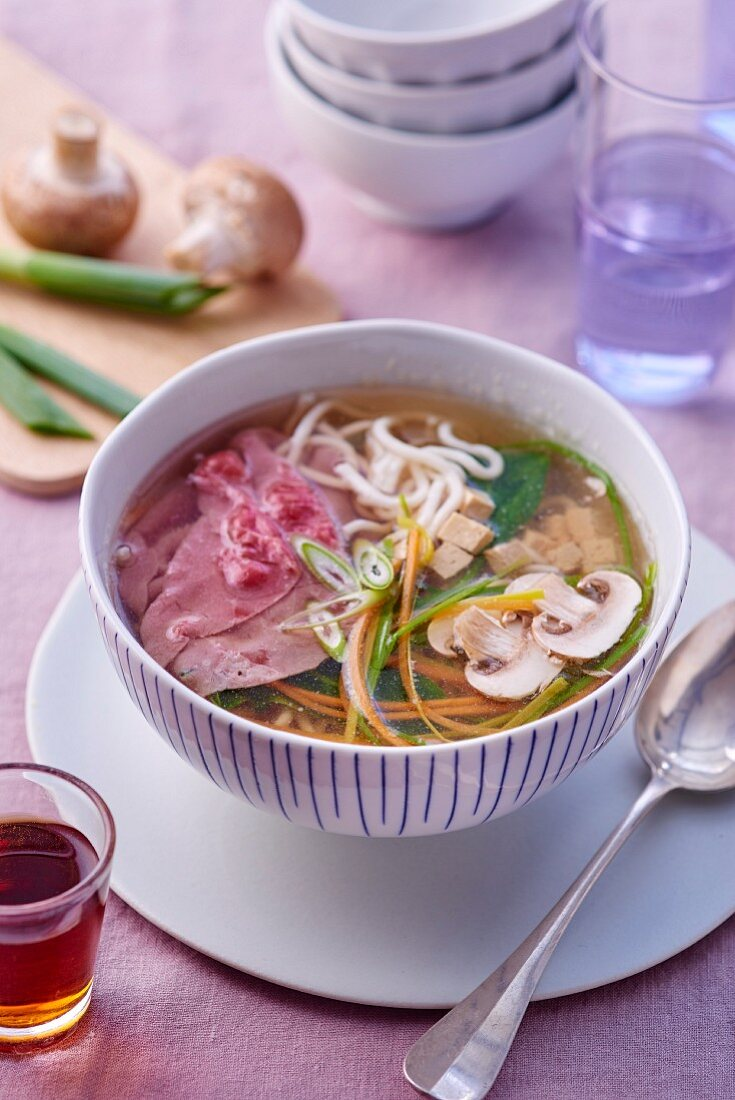 Pot au feu with beef, vegetables and mushrooms (Japan)