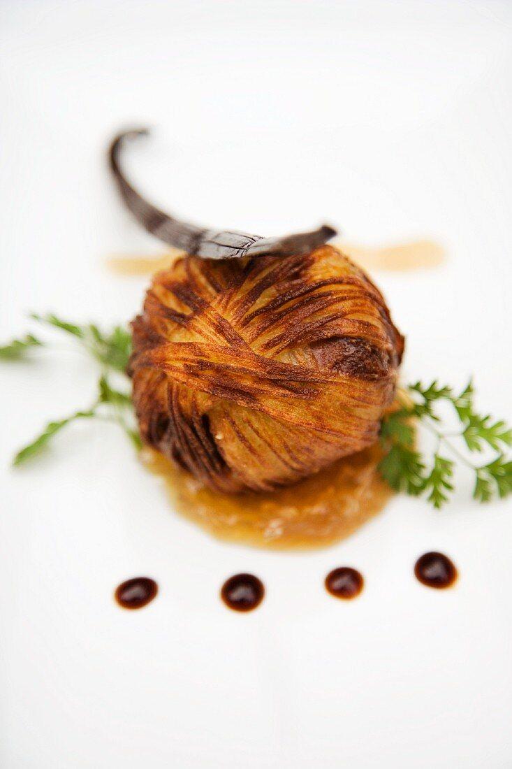 Bonbon croustillant of goose liver on Banyuls sauce