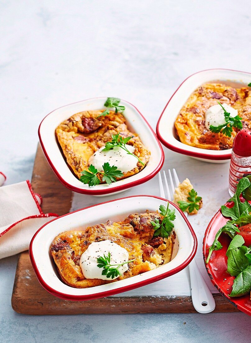 Chorizo & Cheese Impossible Pie