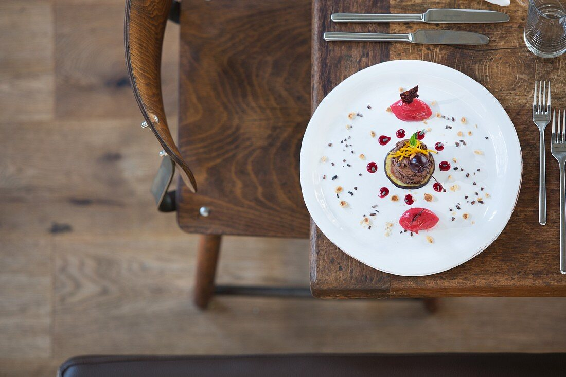 Callebaut wild berries with cherries and lavender at 'eins44', Berlin, Germany