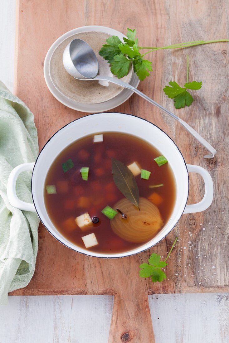 Vegetable broth for post fasting