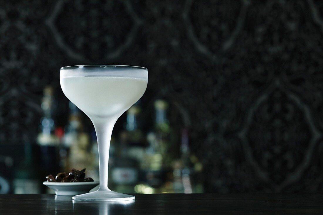 A daiquiri on a bar