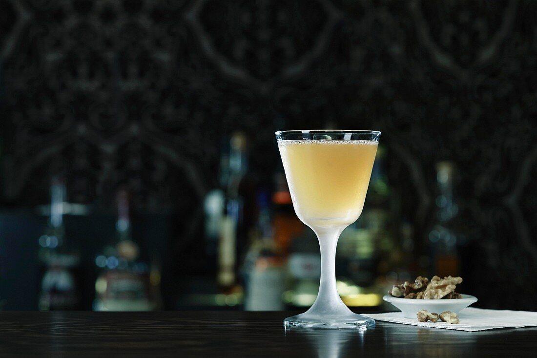 Sidecar cocktail on a bar
