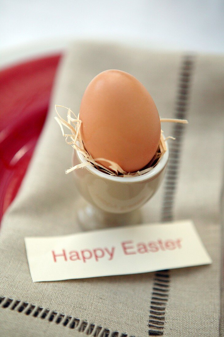 Happy Easter breakfast egg