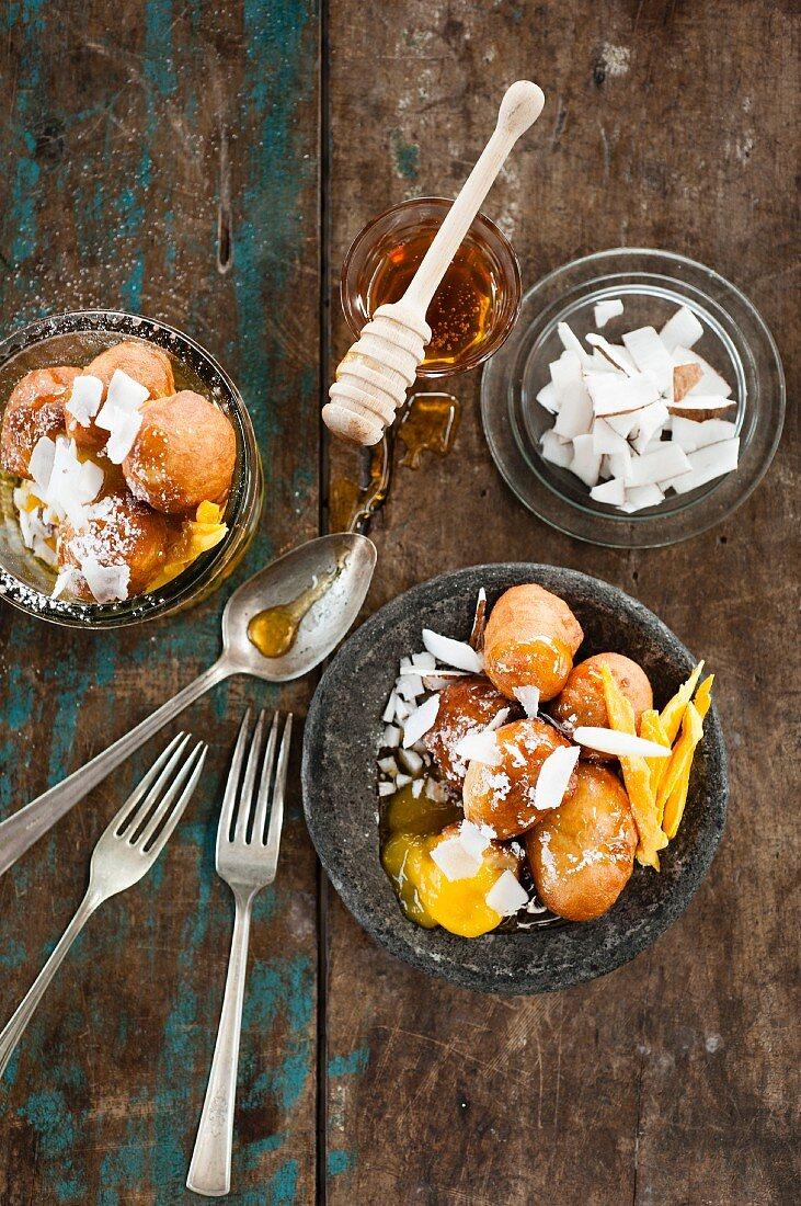 Mango bites with coconut