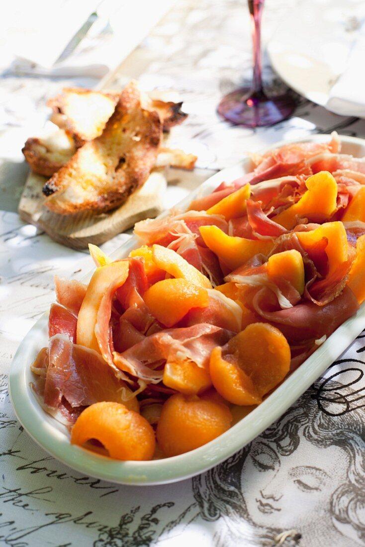 Sherry melon with Parma ham