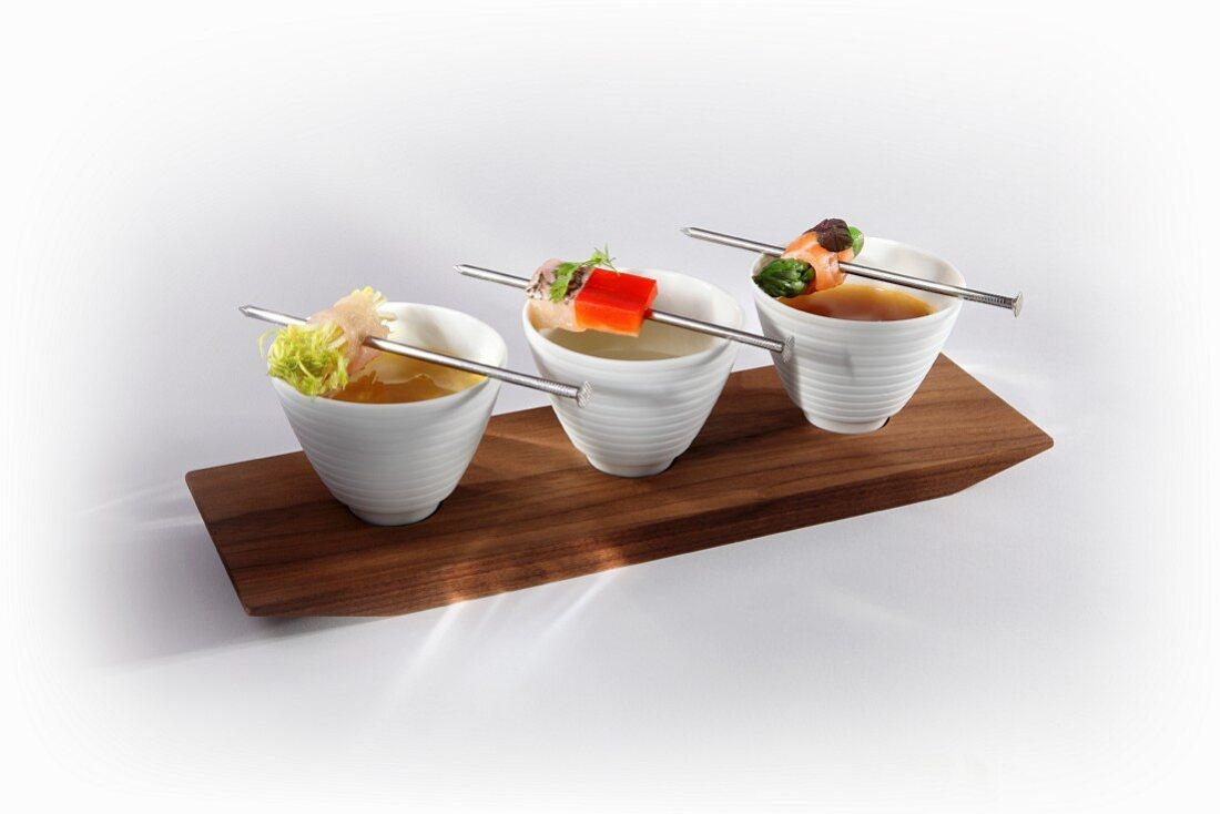 Fish fondue with hake, carp and salmon trout