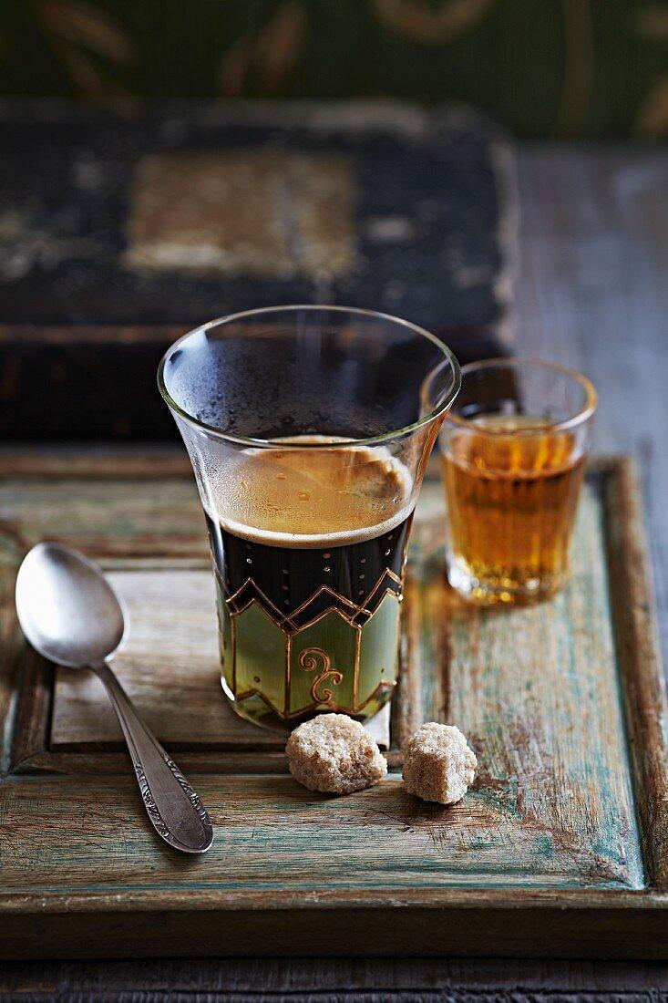 Caffe Corretto (Espresso mit Brandy)