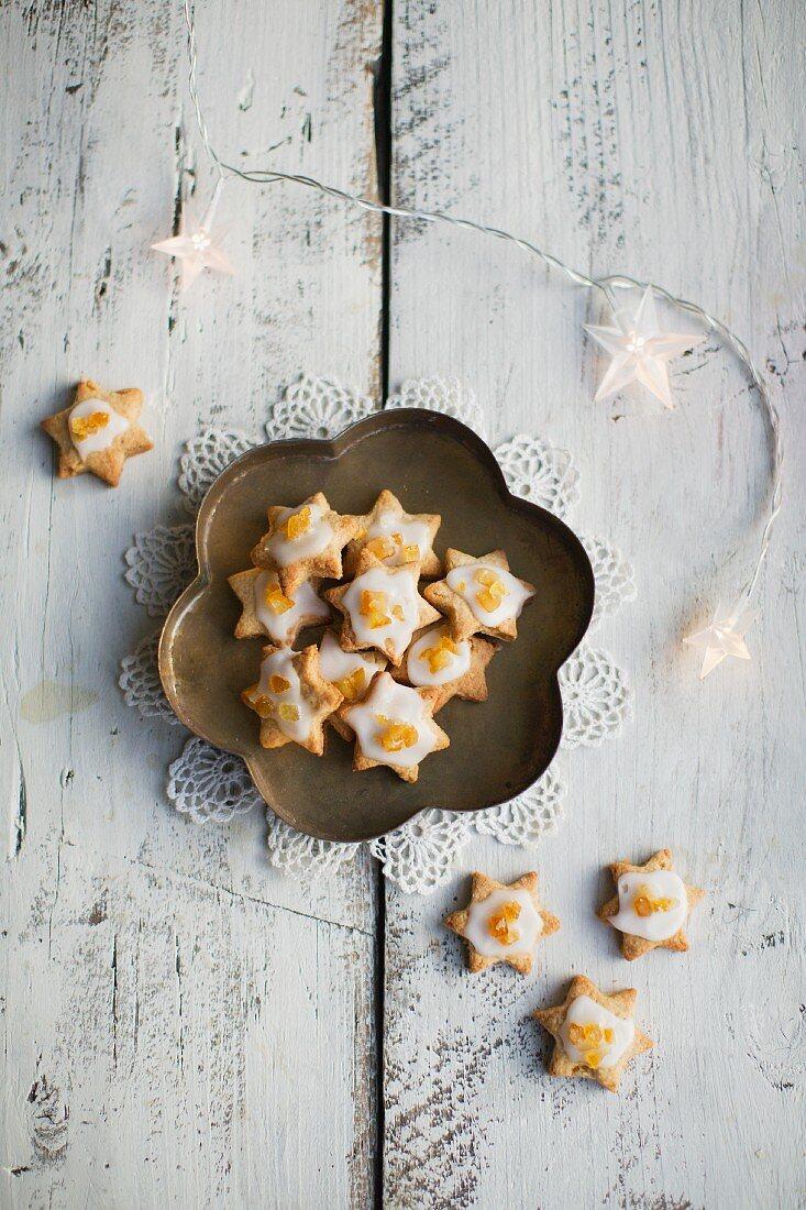 Orange and cinnamon cookies for Christmas
