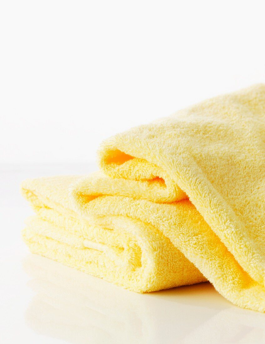 A yellow towel