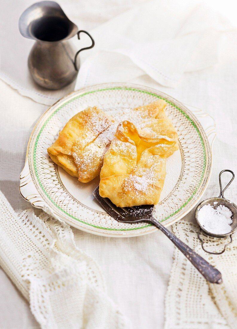 Cypriot fried custard tarts