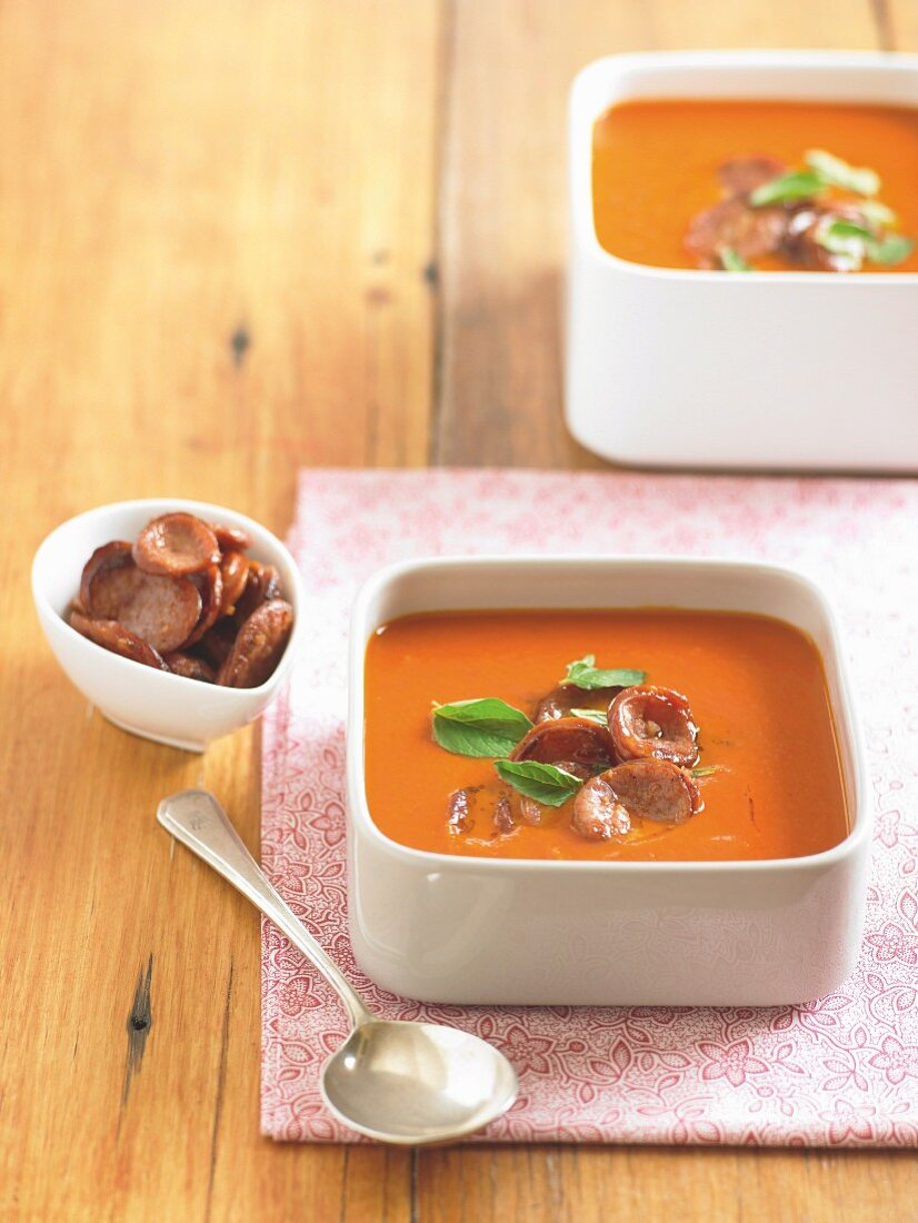 Chorizo and Capsicum soup