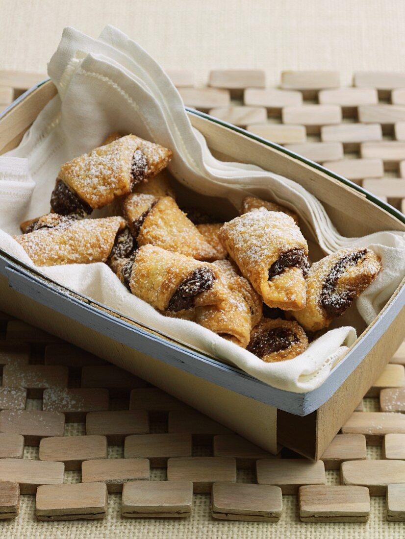 Rugelach - filled Jewish croissants