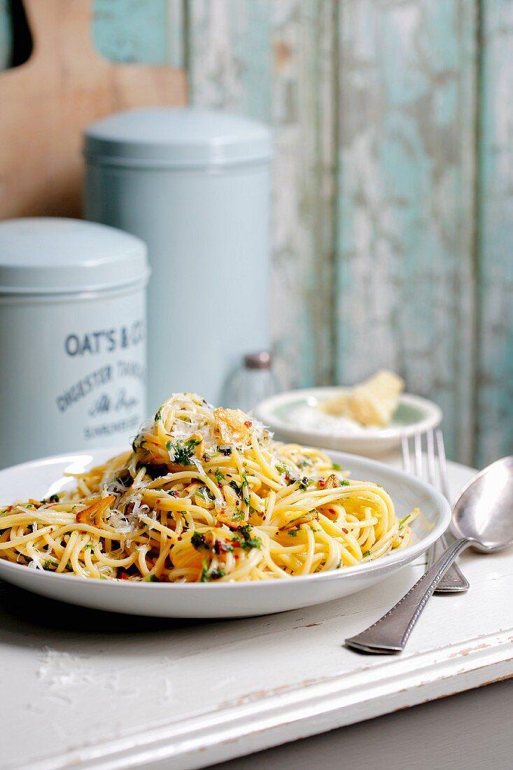 Spaghetti aglio e olio (Italy)