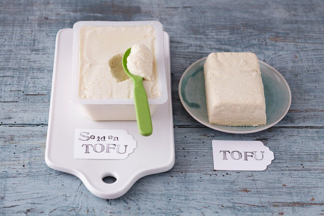 Silken tofu and tofu