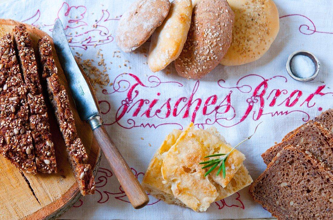 Various types of fresh bread