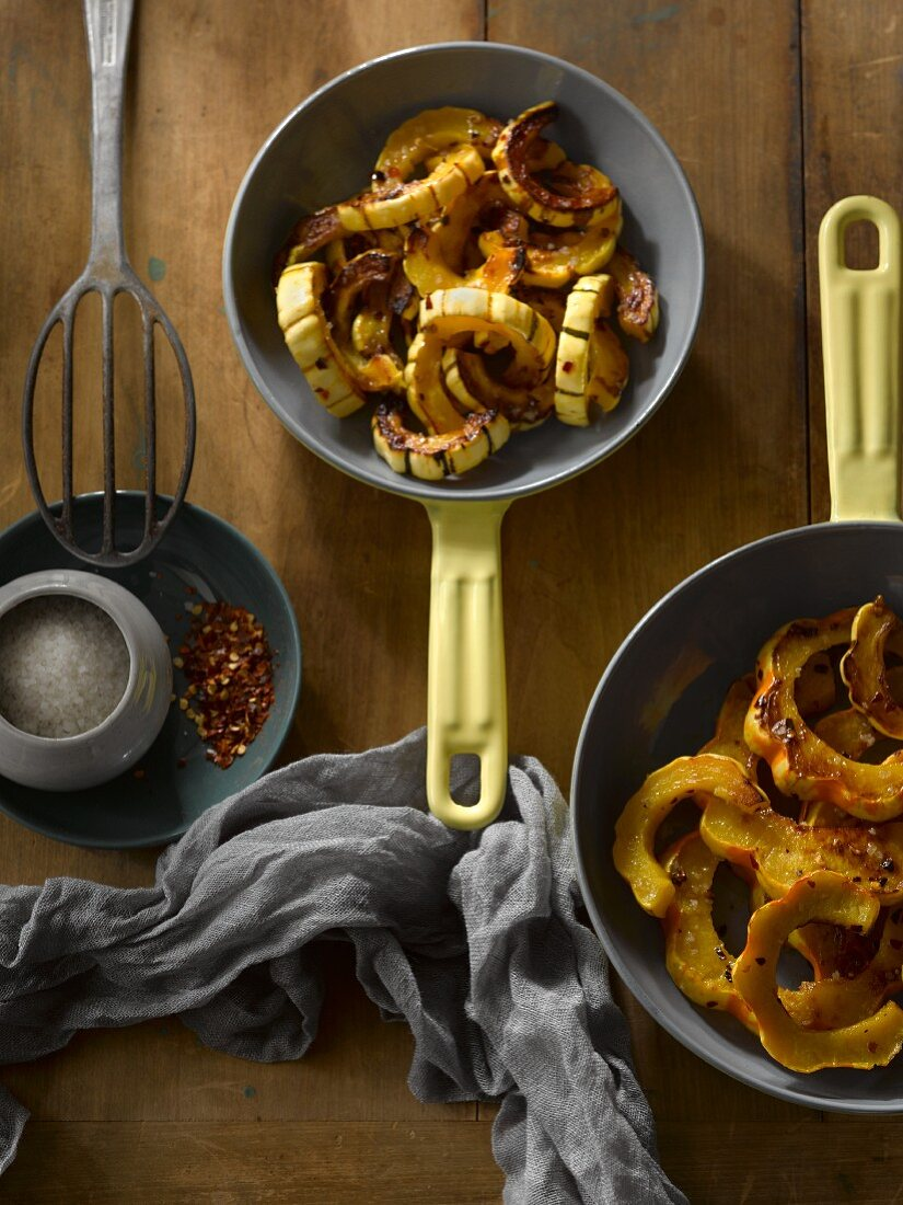 Roasted carnival squash with spices