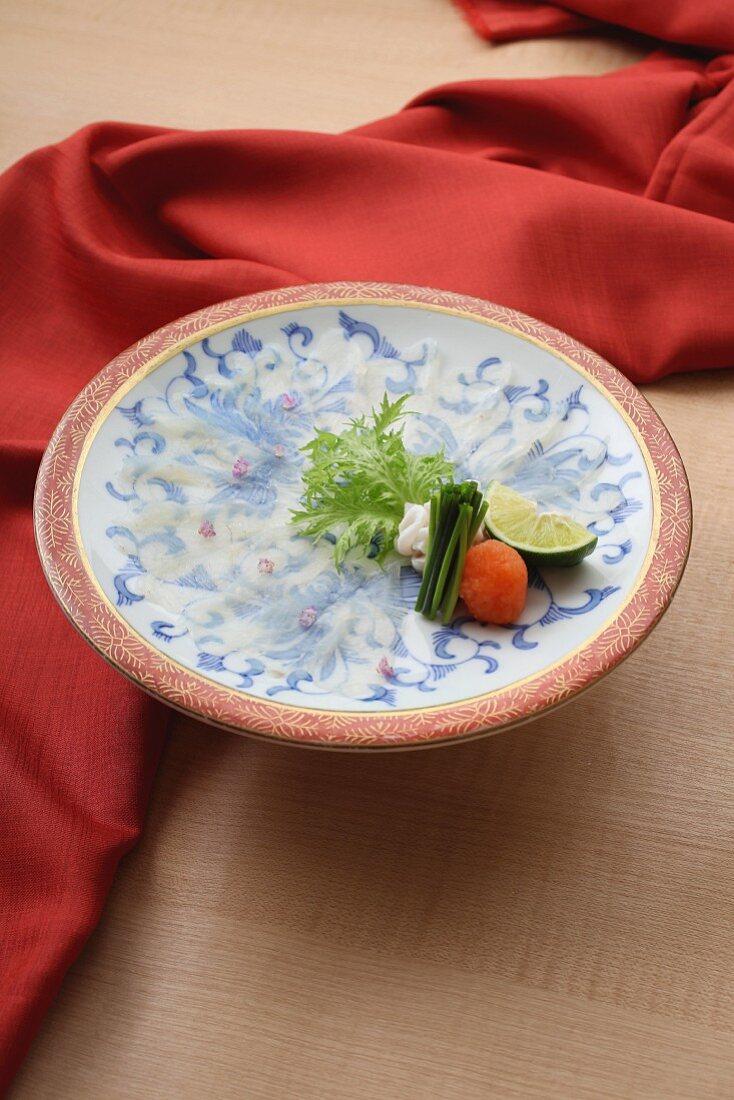 Puffer fish sashimi (Japan)