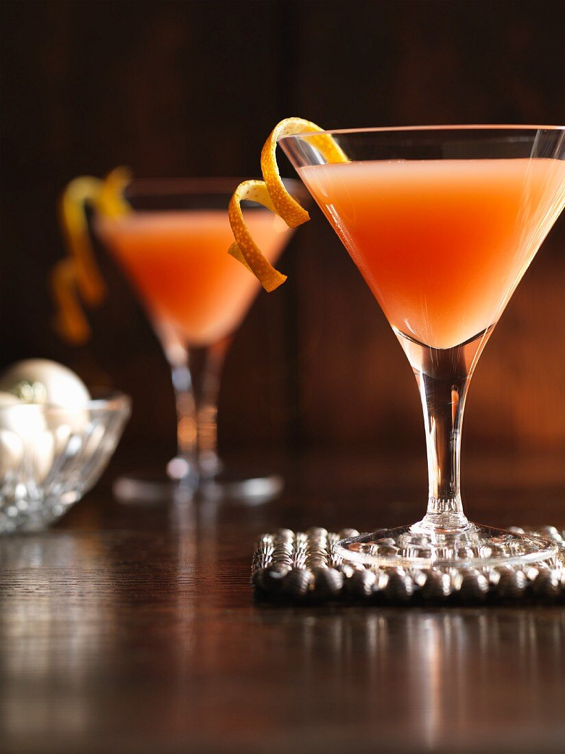 Not So Cosmo – Christmas virgin cocktails made from lemon juice, lime juice, orange juice and cranberry juice