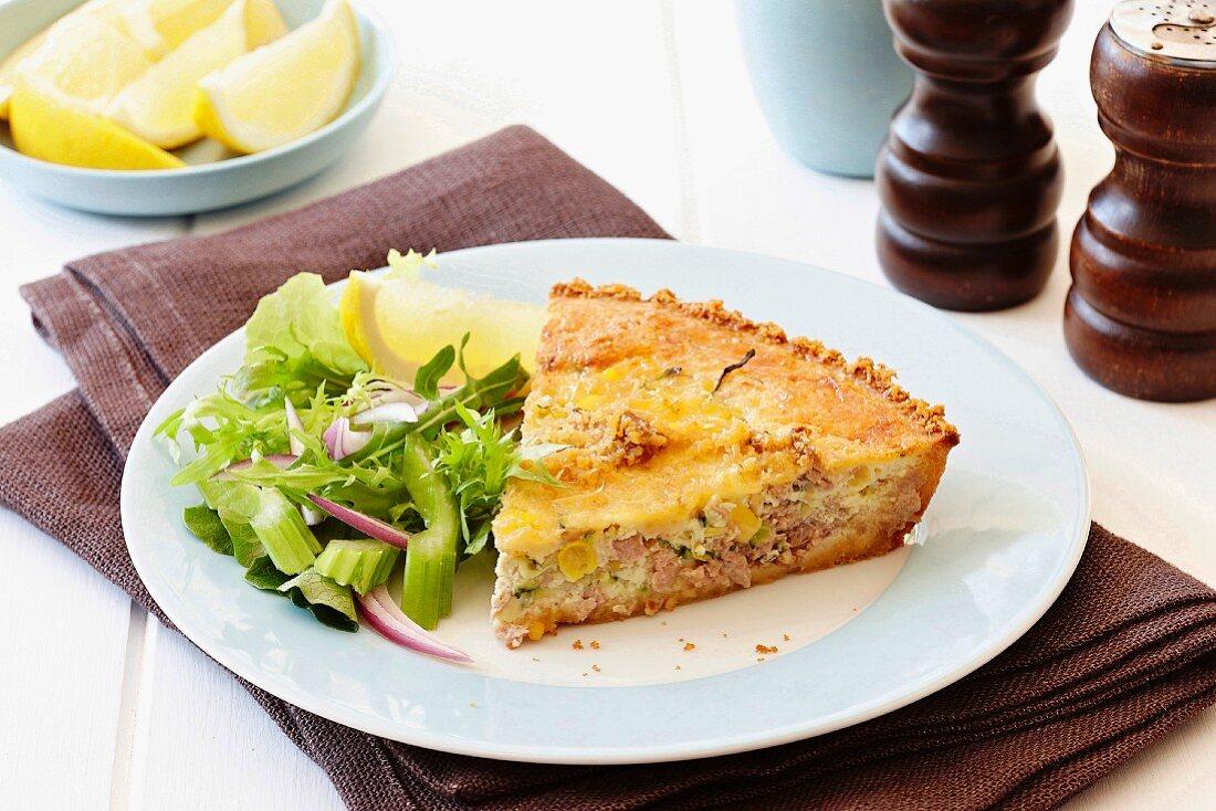 Easy tuna and zucchini quiche