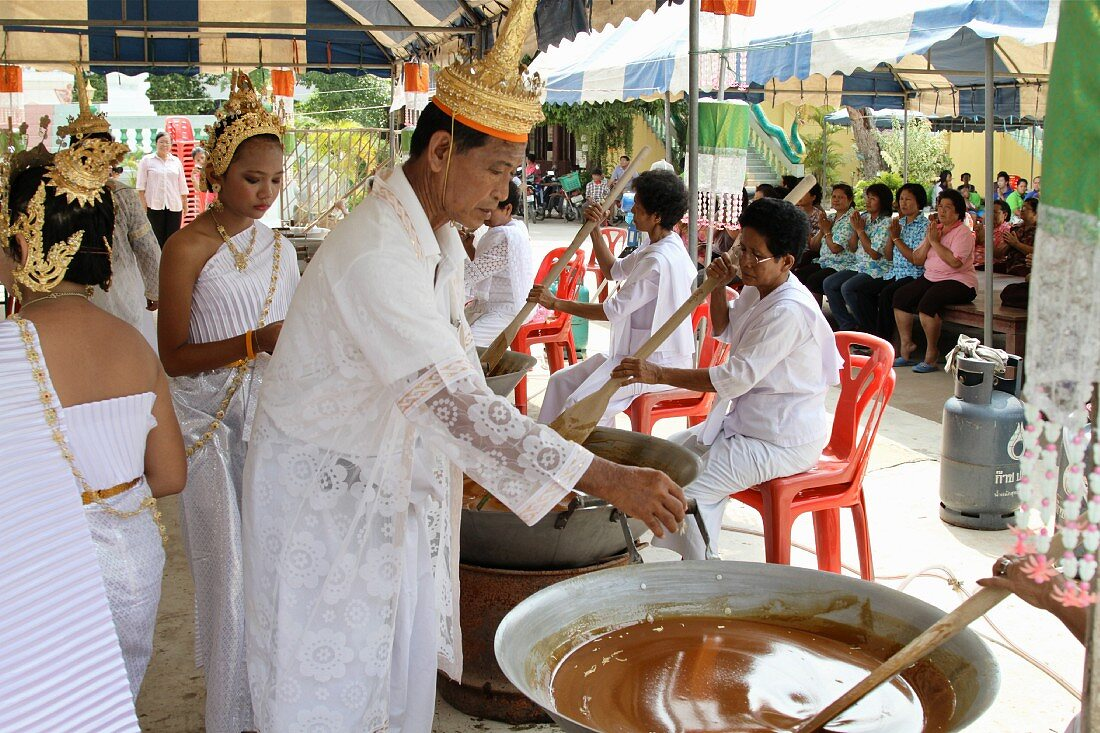 A religious ceremony in Thailand