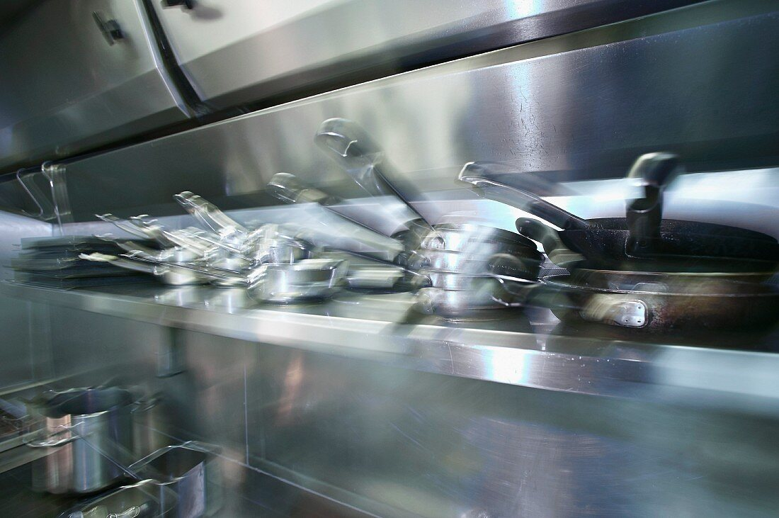 Pots And Pans In A Commercial Kitchen License Images 11322863 Stockfood