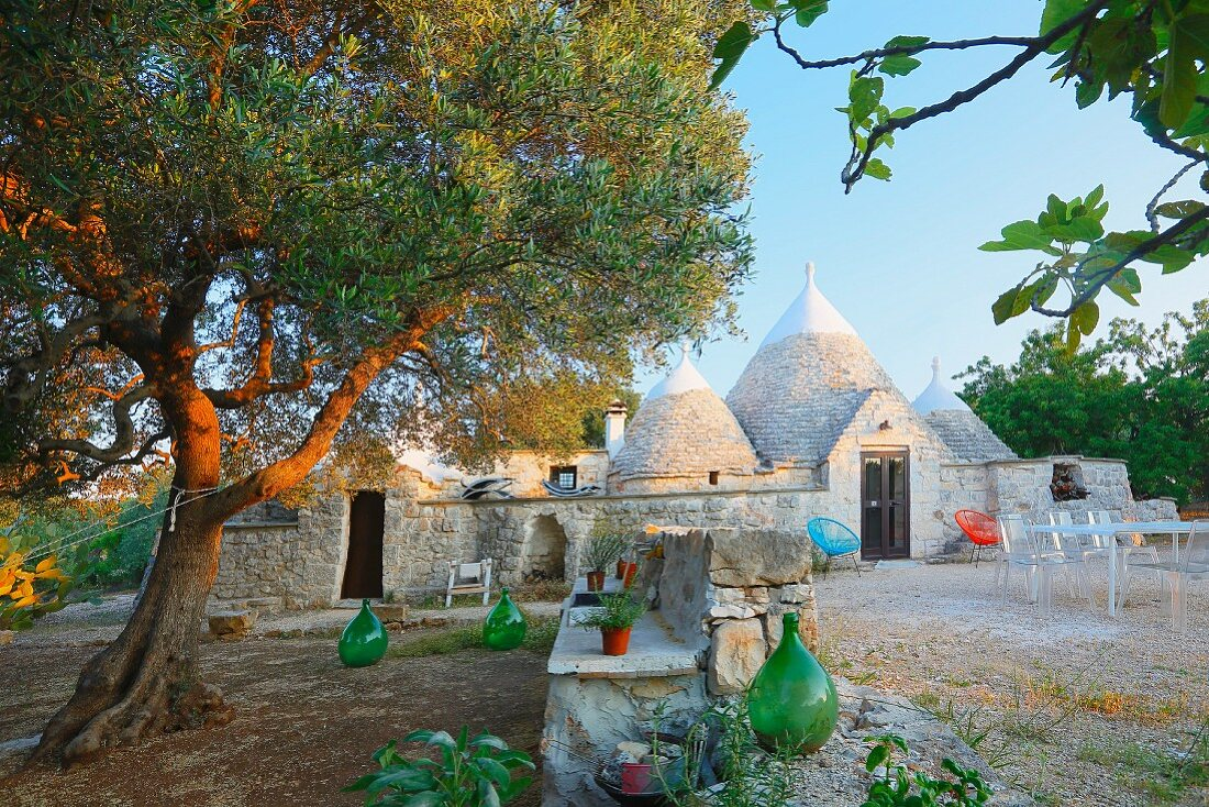 Trulli houses in Ostuni (Brindisi, Italy)