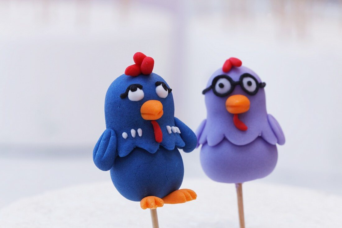 Funny cake pop chickens