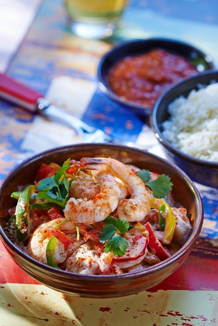 Moqueca Baiana (fish stew with coconut milk and palm oil, Brazil)