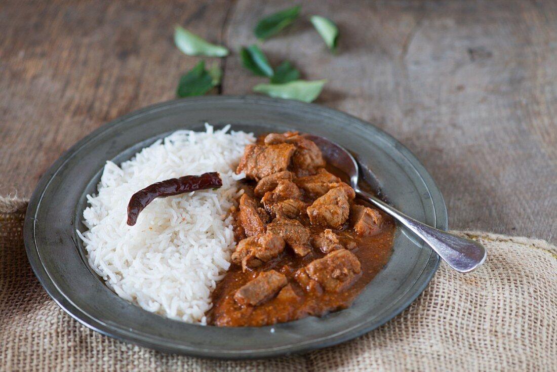 Pork Vindaloo (Schweinefleischcurry, Indien)