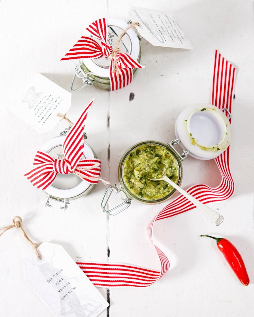Salsa verde with chilli