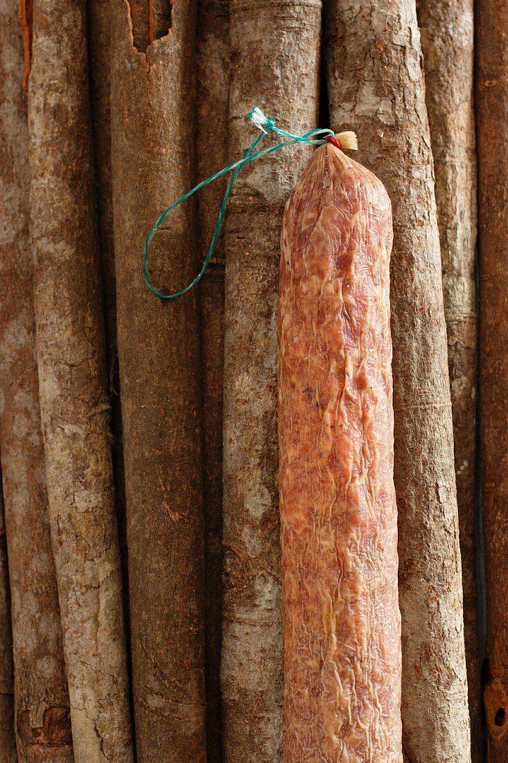 Air-dried salami