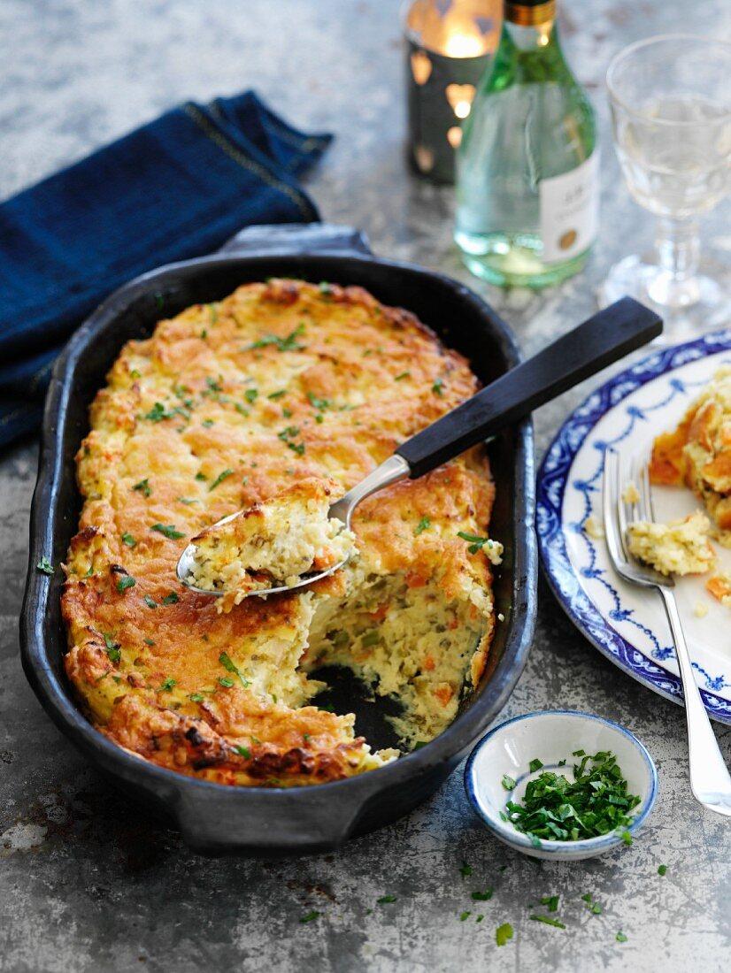 English cheese and onion bake