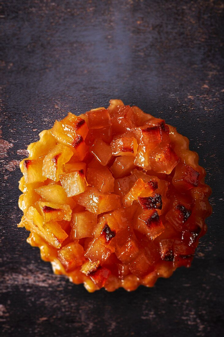 A quince and apple jelly tartlet
