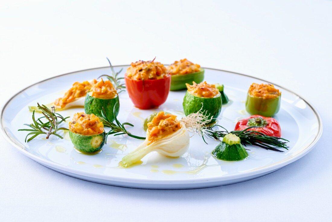 Mini stuffed vegetables