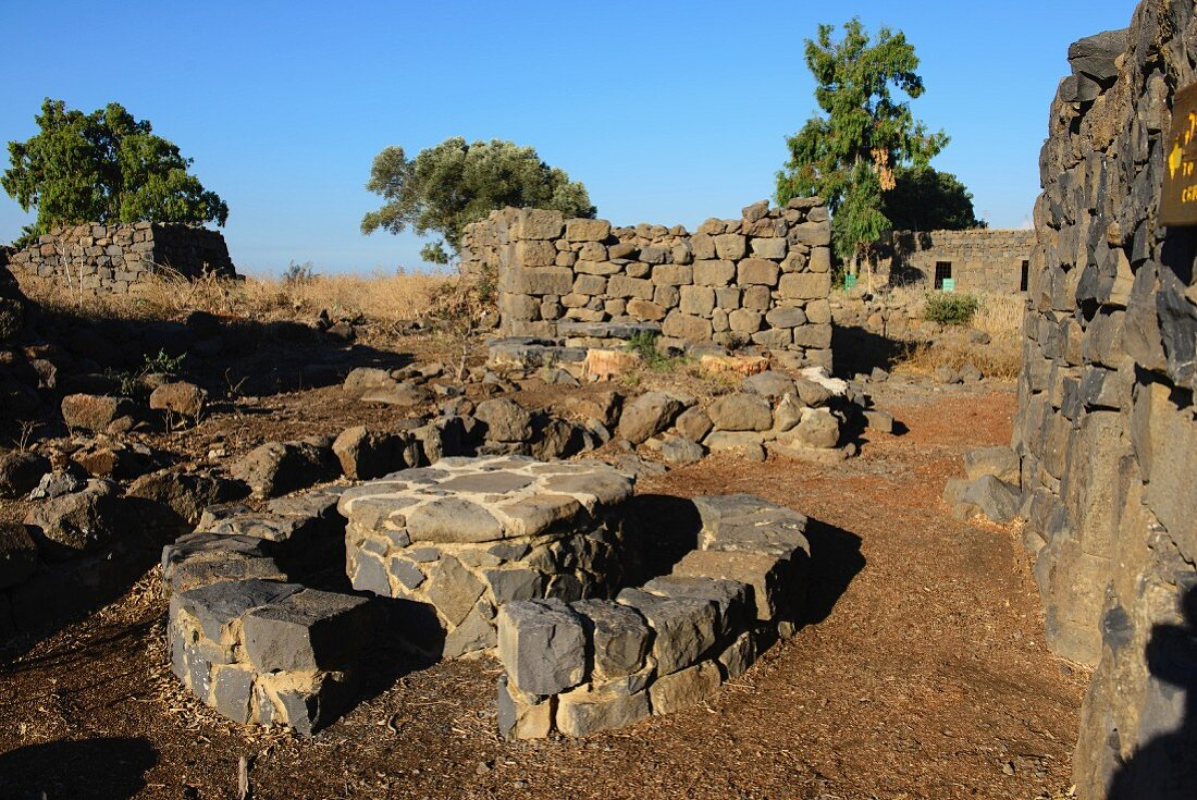 The town of Gamla in the nature reserve in Golan, Israel