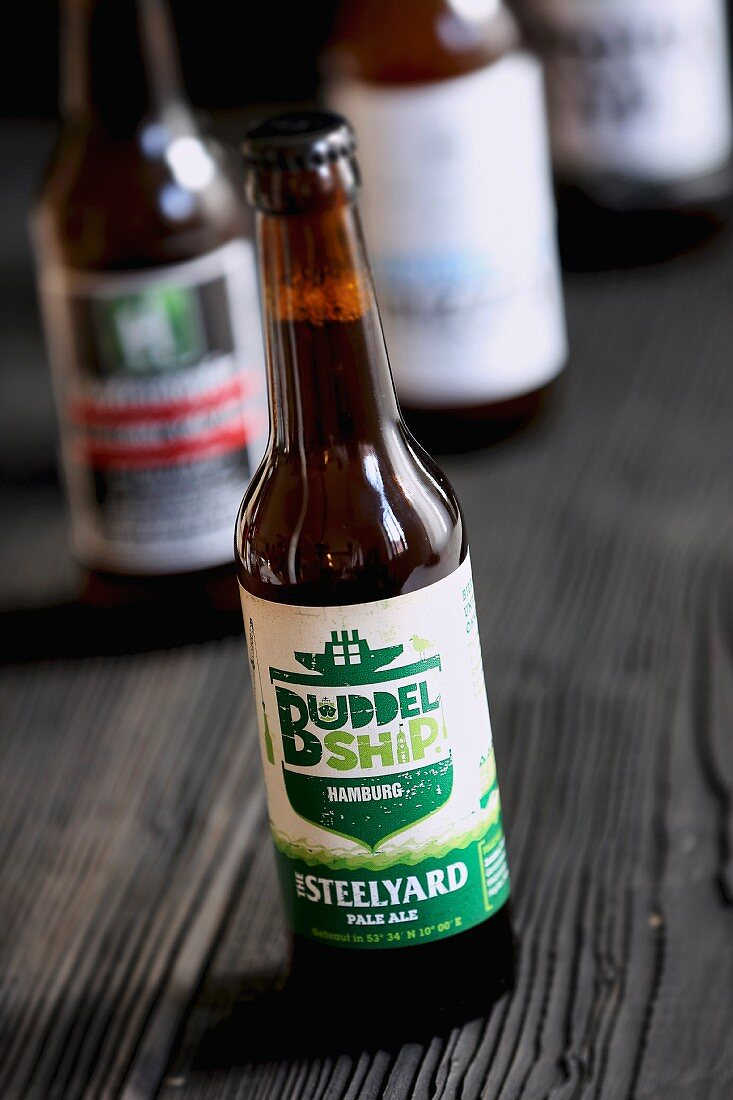 A bottle of The Steelyard Pale Ale (craft beer from an artisan brewery)