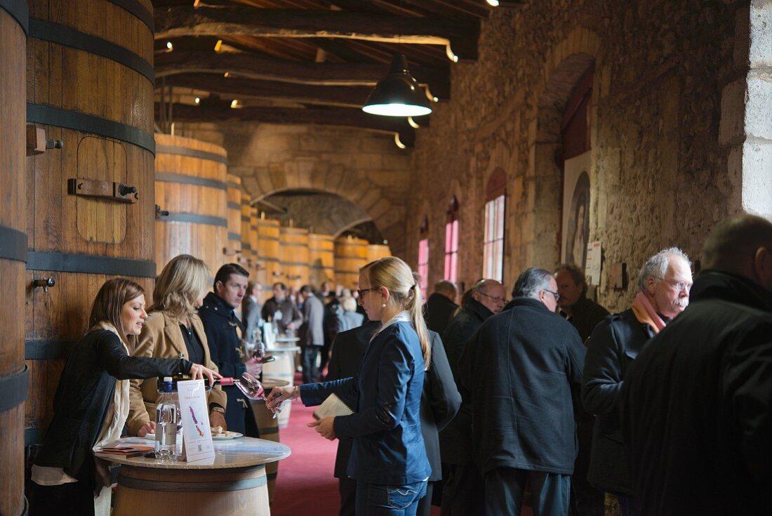 Primeur tasting, Union des Grand Crus de Bordeaux at Chateau de Lamarque (Bordeaux, France)