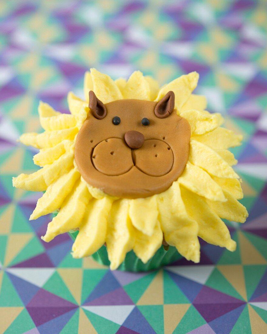 Löwen-Cupcake