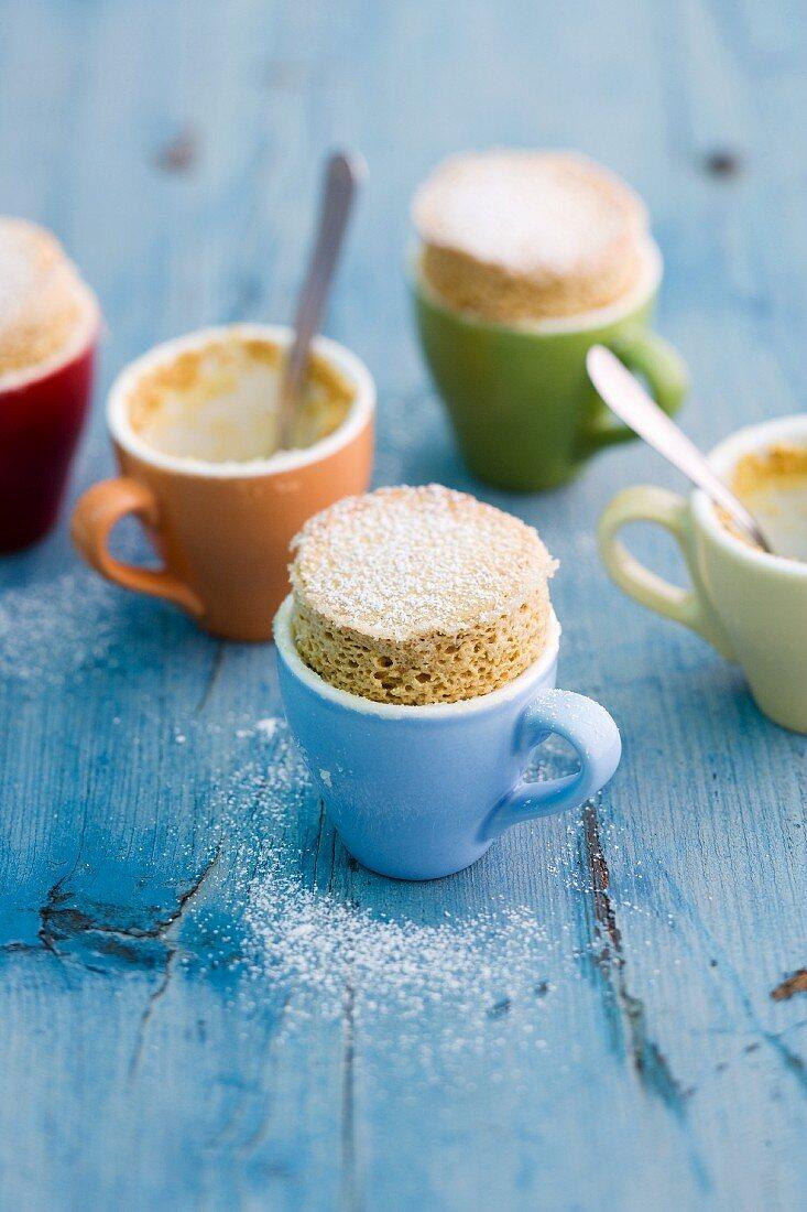 Pumpkin soufflés in cups