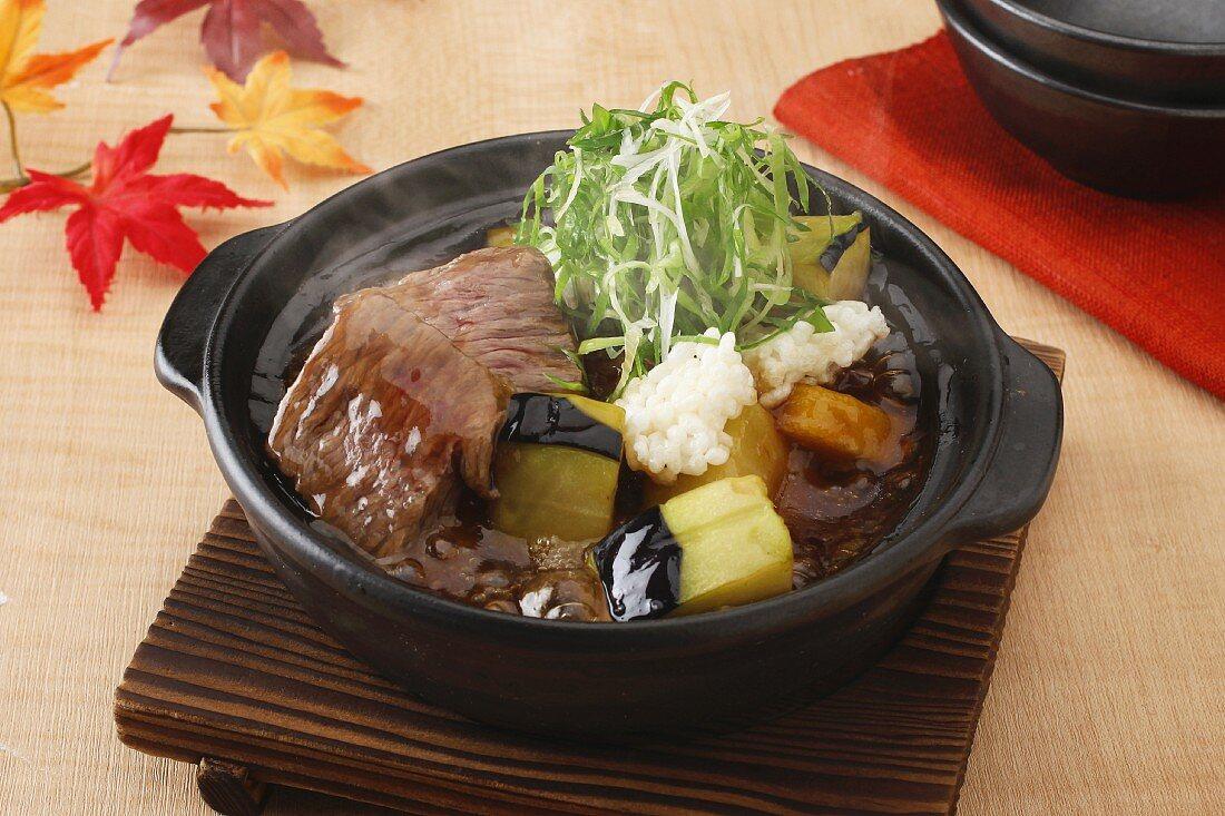 Beef pot-au-feu with vegetables