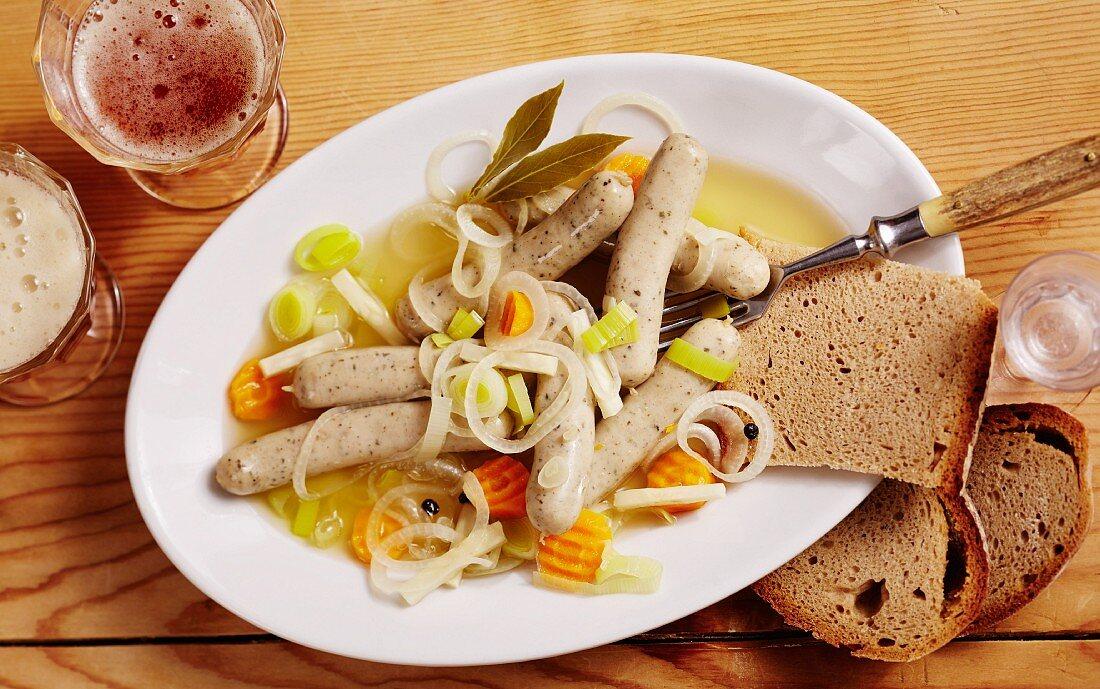Sausages cooked in vinegar, Nuremberg