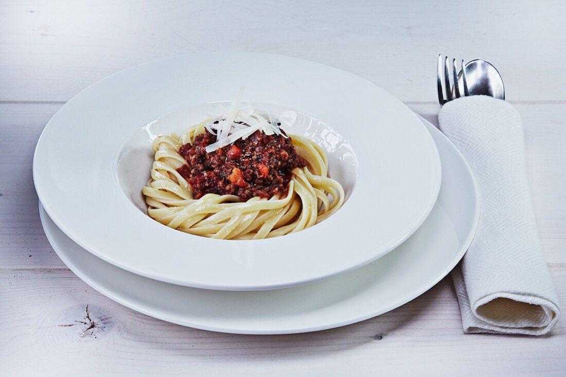 Tagliatelle with venison bolognese
