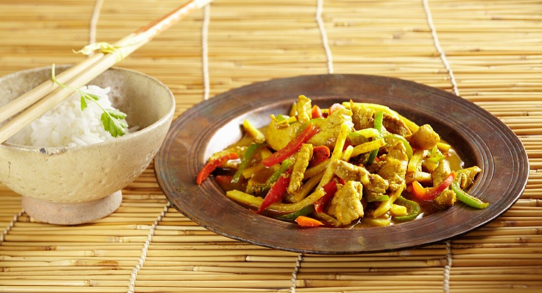 Pork with bamboo and peppers
