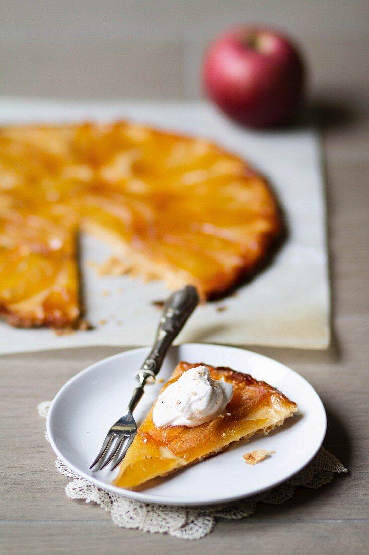 A wafer-thin apple tart